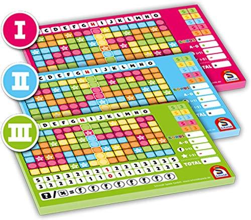 Schmidt Spiele Noch Mal Zusatzblöcke Nr. I, II, III, 3 Stück sortiert in Faltschachtel, 49371