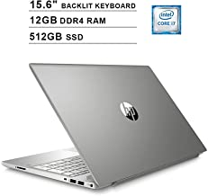 HP Pavilion 15.6 Inch Touchscreen Laptop - Intel Quad Core i7-8550U up to 4.0 GHz, Intel UHD 620, 12GB DDR4 RAM, 512GB SSD, Backlit KB, HDMI, Bluetooth, WiFi, Windows 10, Silver