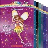 Rainbow Magic Night Fairies Complete 7 Book Set (Includes: Ava the Sunset Fairy; Lexi the Firefly Fairy; Zara the Starlight Fairy; Morgan the Midnight Fairy; Nia the Night Owl Fairy; Anna the Moonbeam Fairy; and Sabrina the Sweet Dreams Fairy)