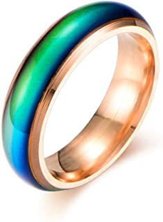 6MM Comfort Fit Stainless-Steel Color Changing Mood Ring