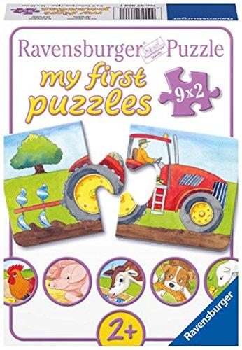 Ravensburger Kinderpuzzle 07333 - Auf dem Bauernhof - my first puzzles - 2,4,6,8 Teile