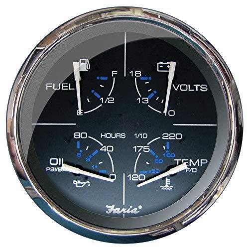 Best Price FARIA BEEDE 33762 Multifunction 5 Gauge Fuel/Oil PSI/Water Temp/Voltmeter - Chesapeake, ...