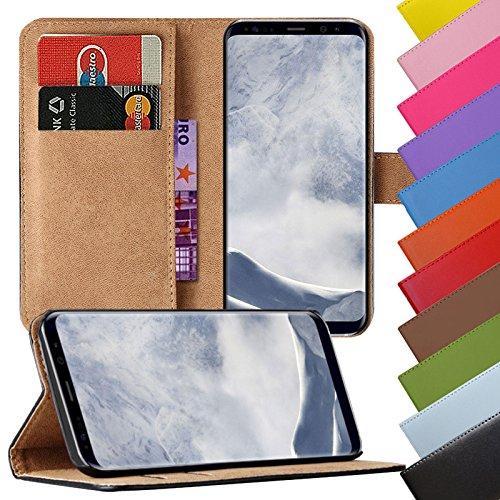 Eximmobile - Book Hülle Handyhülle für Samsung Galaxy S3 / S3 Neo in Schwarz mit Kartenfächer Schutzhülle aus Kunstleder Handytasche als Flip Hülle Cover Handy Tasche Etui Hülle Kunstledertasche