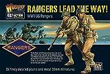 Kriegsherr GB-A2 - WW2 US Rangers 28mm Figuren - Bolzen Aktion - 25x 1/56 Wargaming-Minaturen -