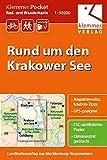 Klemmer Pocket Rad- und Wanderkarte Rund um den Krakower See: GPS geeignet, Erlebnis-Tipps auf der Rückseite, 1:50000