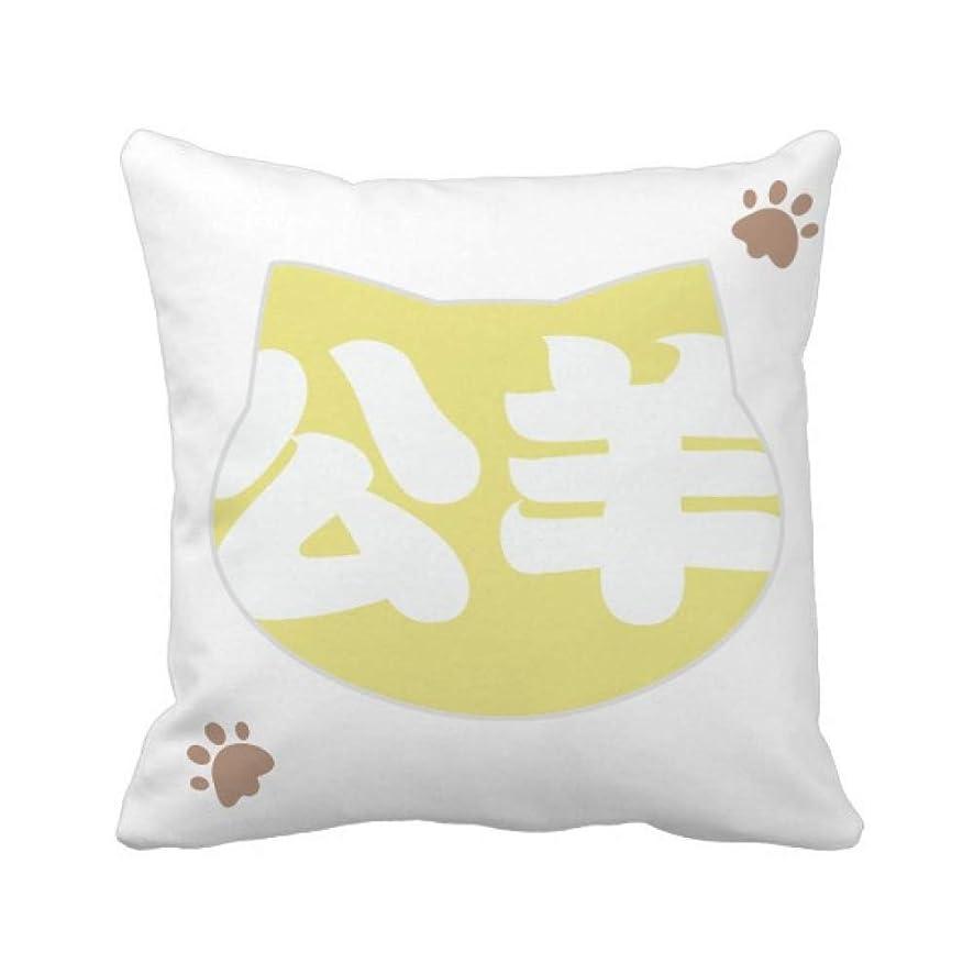 妥協拷問フォーカス中国の姓の文字は中国の春秋公羊 枕カバーを放り投げる猫広場 50cm x 50cm