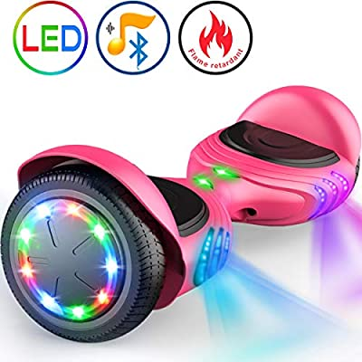 """TOMOLOO Hoverboard with Bluetooth Speaker UL2272 Certified Self Balancing Electric Scooter 6.5"""" Two-Wheel Hover Boards with LED Lights for Kids and Adult"""