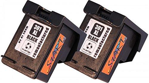 Start - 2 XL Ersatz Tintenpatronen kompatibel zu HP 301XL HP301XL Schwarz für HP DeskJet Druckerpatronen