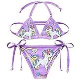 Costume da bagno per bambine, con unicorno, due pezzi Style7 140 cm(10-12 anni)