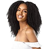 Outre Human Hair Blend Clip on Weave Premium Purple Pack Big Beautiful Hair Clip-In 4A Kinky Curl 10' 9Pcs (NBLK)