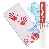 IntroWizard Bleeding Paper - Bloody Halloween Decor for Party, Horror Movie Gifts, Color Change Magic Sheet That Turns Red When Wet