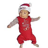 👶 Materiale: misto cotone,è fatto di materiali di alta qualità, sensazione di mano morbida, nessun danno per la pelle del tuo bambino 👶Un dolce vestito natalizio per il tuo bambino. Non c'è dubbio che il tuo bambino sarà il più simpatico di tutti lo...