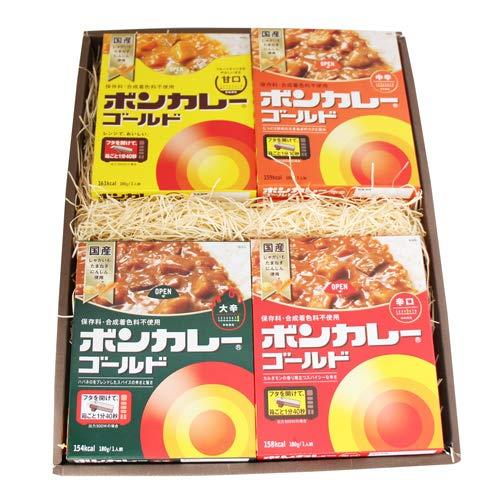 プレゼント ギフト 大塚食品 ボンカレーゴールド 5種 計10個入 電子レンジ用台付き (ギフトセット H)