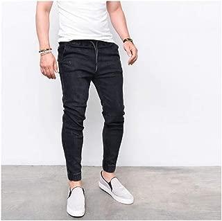 Men Harem Jeans Pants Drawstring Skinny Denim Pants