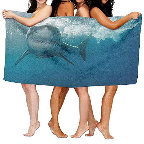fjfjfdjk Makayla Riley Multi-Purpose Beach Towel Custom Terrible Shark Microfiber Bath Sheets Towels Family Bathroom,Hotel,Swimming Pool,Gym Quick Dry Strong Water Absorption,Eco-Friendly 31