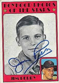 jim perry autograph