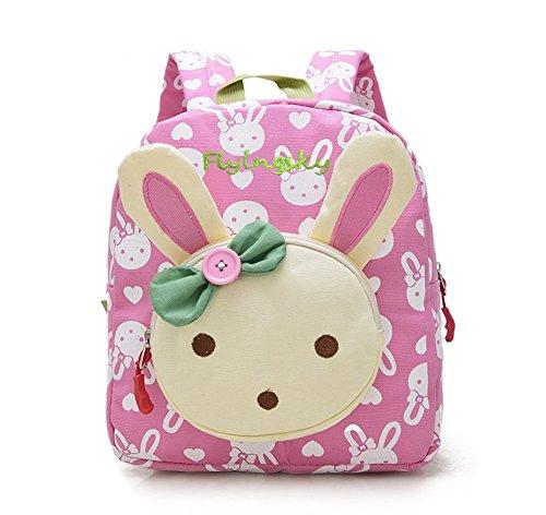 Flyingsky Kaninchen Tiere Kinderbuch Rucksack Baby Schultasche (Pulver)