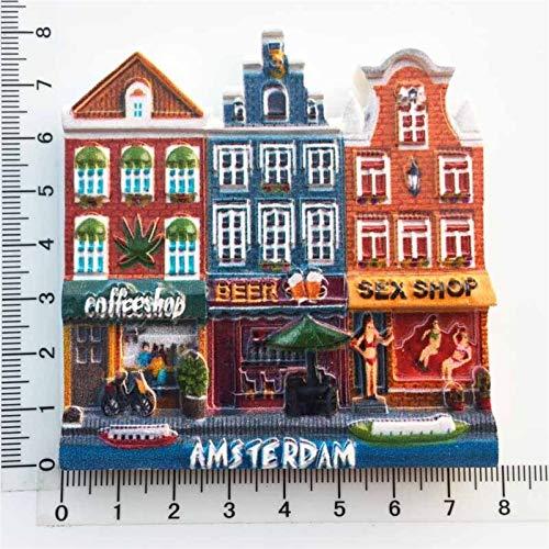 YSVSPRF Imanes de Nevera Pegatinas Imanes de Nevera Recuerdos turísticos magnético refrigerador Pegatinas de decoración para el hogar Regalos (Color : Amsterdam)