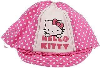Hello kitty Casquette b/éb/é//Enfant Fille Blanc et Rose de 9mois /à 3ans