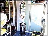アンティーク調鏡付き傘立て アイアン 花柄 ミラー 傘立て 店舗什器 中古 札幌市内