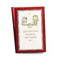 クリスマスボックス版カード–Peanuts–Charlie、ルーシーand the Manger