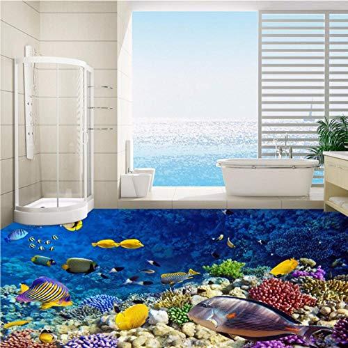Pbbzl wereldkaart voor aquarium, 3D-vloerbedekking voor badkamer, hal, etage 200 x 140 cm