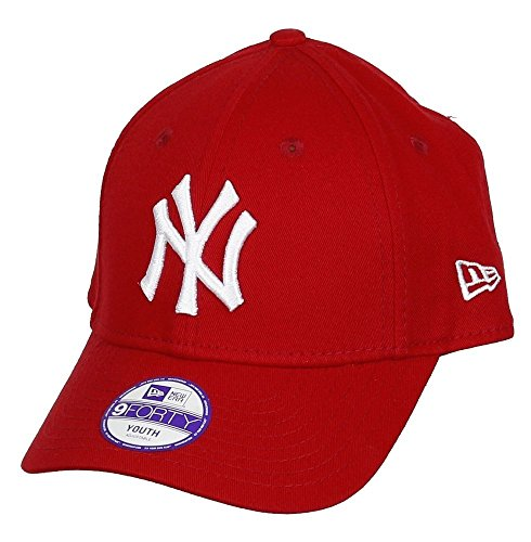 New Era 9FORTY - Gorra unisex para niños, color rojo / blanco, talla Joven ( Youth)