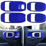 LAIKOU Car Door Handle Bowl Cover Decor Trim ABS Interior Accessories for 2018-2021 Jeep Wrangler JL JLU & Gladiator JT 4-Door (Blue)