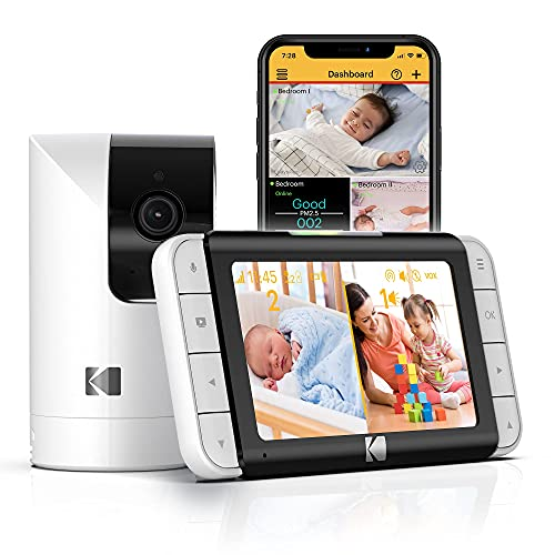 Kodak Cherish C520 WiFi Video Baby Monitor with Above-The-Crib View, Parent Unit...