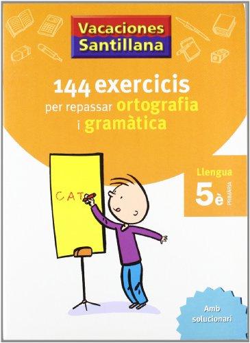 Vacaciónes Santillana, ortografía i gramàtica, llengua, 5 Educació Primària - 9788479182250