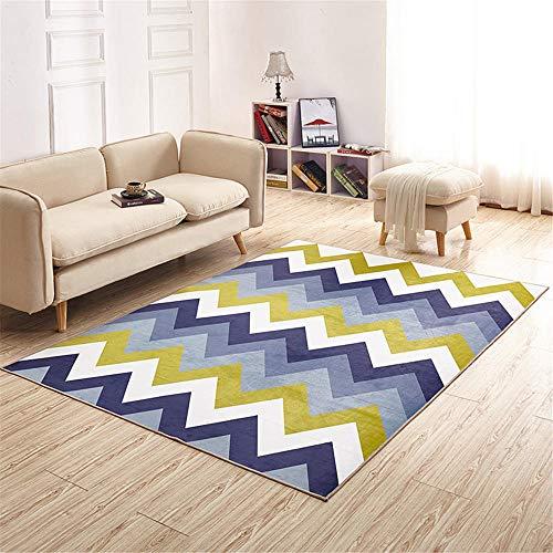 alfombras recibidor,Alfombra Amarilla, Desgaste del patrón Resistente a la Alfombra Antideslizante del sofá, Alfombra recibidor -Amarillo_80x180cm
