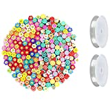 SUADEN 200 Pcs Sun Flower Smiley Face Beads and Fruit Beads   10mm...