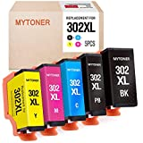 MYTONER Remanufactured Ink Cartridge Replacement for Epson 302xl T302XL 302 T302 Ink for Expression Premium XP-6000 XP-6100 Printer (Black, Photo Black, Cyan, Magenta, Yellow, 5-Pack)