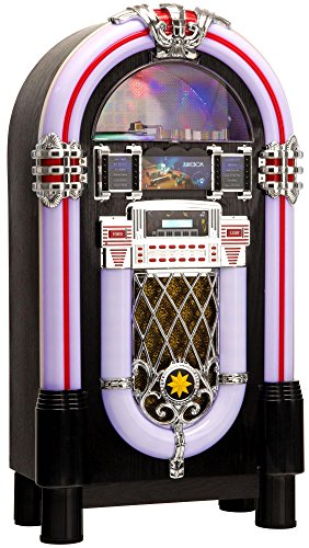 Lacoon GoldenAge años 40/50 Jukebox con CD, USB, MP3 Player, radio e Bluetooth