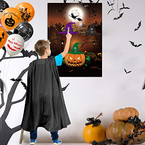 FEPITO Pin The Horn Party Game (Pumpkin)