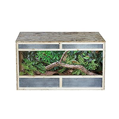Pawhut Reptile Pet Vivarium Home House Terrarium Habitat Leopard Geckos Lizard Wooden OSB - Three Sizes by Sold by MHSTAR