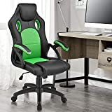 ArtLife Racing Schreibtischstuhl Montreal grün | Armlehnen gepolstert & ergonomische Rückenlehne | Bürostuhl Drehstuhl Gaming-Stuhl
