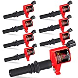High Energy Pack of 8 Straight Boot Ignition Coils for Ford Lincoln Mercury V8 V10 4.6l 5.4l 6.8l Compatible with DG511 C1541 FD508