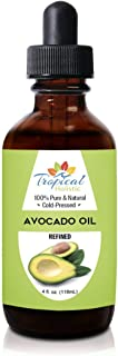 100% Pure Refined Avocado Oil 4 oz - Premium Natural Cold Pressed Oil - Best for Hair Growth, Face, Skin