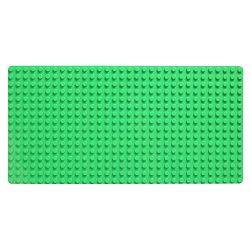 Katara 1739 - Große Platte Bauplatte, Kompatibel Lego, Simba Blox, My, Q-Bricks 51cm x 26cm x 2cm, Rechteckig, Grün