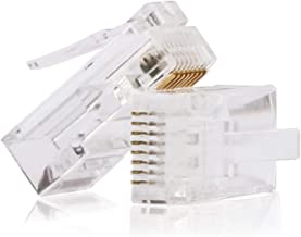RJ45 Connectors,Cat6 Connector Cat5e Connectors Cat5 Connectors RJ45 Ends Ethernet Cable Crimp Connectors-2Pcs