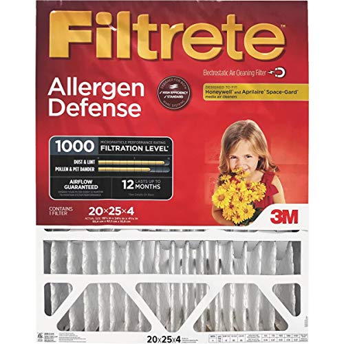 3M Filtrete Allergen Defense Deep Pleat Furnace Filter
