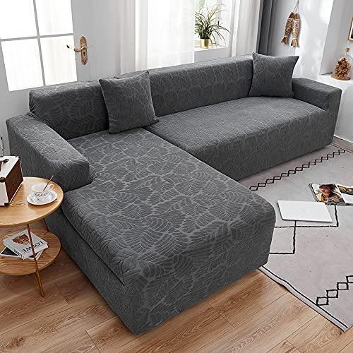 DENGZH Funda para sofá en Forma de L, Funda para Sofá Chaise Longue Tela Elástica y Cómoda con (un sofá esquinero en L Requiere 2) (Color : C, Talla : XXL Sofa 300-360cm)