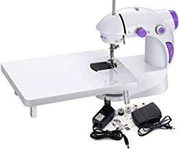 Kdiaas Mini Portable Electric Dual Speed Sewing Silai Machine with Foot Pedal, Adaptor and Working Light