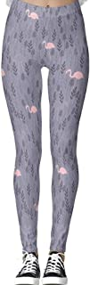 DIYCCY - Pantalones de yoga, color rosa flamenco para mujer, cintura alta