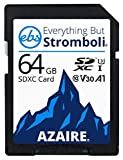 Everything But Stromboli 64GB SD Card Class 10 Azaire UHS-1 U3 Speed C10 V30 64G SDXC Memory Card for Canon Digital Camera Works with EOS 6D Mark II, 7D Mark II, 5D Mark IV, EOS 80D, EOS 90D, EOS 5DS