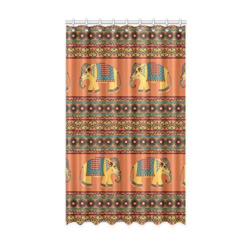 NA Cortinas de Ventanas de Cocina Cortinas de baño de Elefante Indio Vintage Moderno para Ventanas de 50 x 84 Pulgadas de una Pieza para Puertas corredizas de Vidrio para Patio/Dormitorio