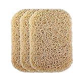 Cabilock - Set di 3 portasapone per sapone, piattini antiscivolo per sapone, spugne, organ...