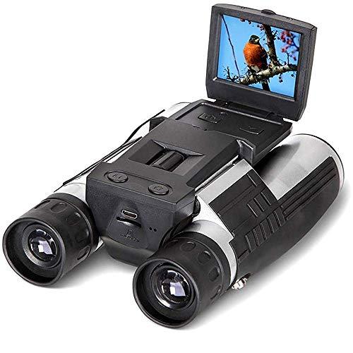 Cámara Binoculares - Cámara Telescópica De 12X32 con Pantalla LCD Digital De 2'- Grabadora De Fotos De Video De 5Mp - para Observación De Aves, Deportes Al Aire Libre, Juegos, Conciertos