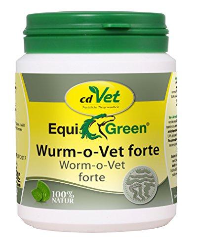 cdVet Naturprodukte EquiGreen Wurm-o-Vet forte 75 g - Pferde - wurmfeindliches Darmmillieu -  krankhaften Wurmbesatz vermeiden -  Mangel an Kräuterinhaltstoffen - Antiwürmer - Gesundheit -